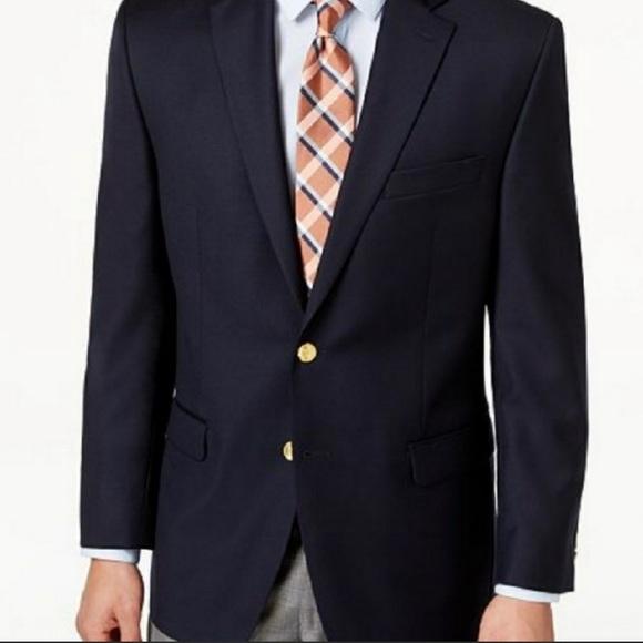 New! Lauren Ralph Lauren Navy Wool Blazer 40S